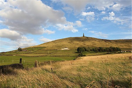 Stoodley Pike, memorial to the defeat of Napoleon, on the Pennine Way, Langfield Common, Todmorden, West Yorkshire, Yorkshire, England, United Kingdom, Europe Stock Photo - Rights-Managed, Code: 841-06448468