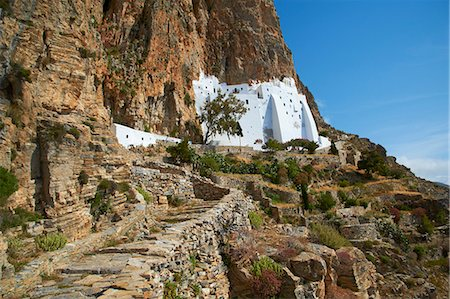 Hozoviotissa monastery, Amorgos, Cyclades, Greek Islands, Greece, Europe Stock Photo - Rights-Managed, Code: 841-06448567