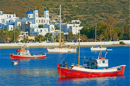 Katapola port, Amorgos, Cyclades, Aegean, Greek Islands, Greece, Europe Stock Photo - Rights-Managed, Code: 841-06448570