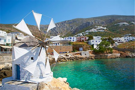 Aigiali town and port, Amorgos, Cyclades, Aegean, Greek Islands, Greece, Europe Stock Photo - Rights-Managed, Code: 841-06448597