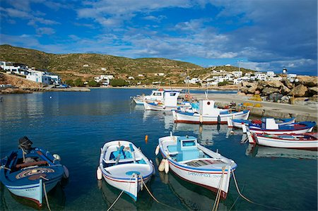 Harbour and town, Stavros, Donoussa, Cyclades, Aegean, Greek Islands, Greece, Europe Stock Photo - Rights-Managed, Code: 841-06448605