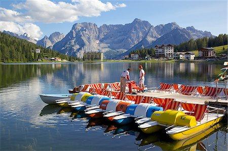 Lago di Misurina, Belluno Province, Veneto, Italian Dolomites, Italy, Europe Stock Photo - Rights-Managed, Code: 841-06448788