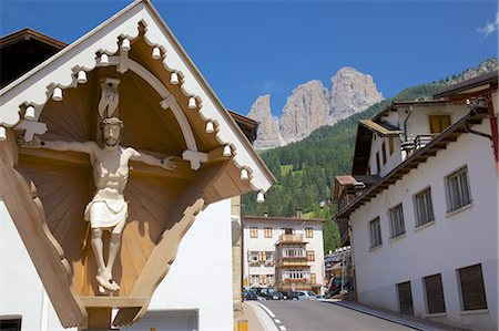 religious cross nobody - Religious cross, Ciampedel, Fassa Valley, Trento Province, Trentino-Alto Adige/South Tyrol, Italian Dolomites, Italy, Europe Stock Photo - Rights-Managed, Code: 841-06448845