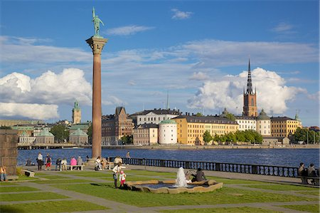 stockholm - City skyline from City Hall, Stockholm, Sweden, Scandinavia, Europe Stock Photo - Rights-Managed, Code: 841-06448917