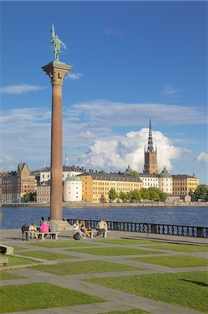 stockholm - City skyline from City Hall, Stockholm, Sweden, Scandinavia, Europe Stock Photo - Rights-Managed, Code: 841-06448918