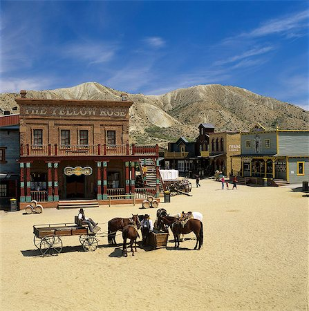 set - Mini Hollywood (Spaghetti Western film set), near Tabernas, Andalucia, Spain, Europe Stock Photo - Rights-Managed, Code: 841-06449333