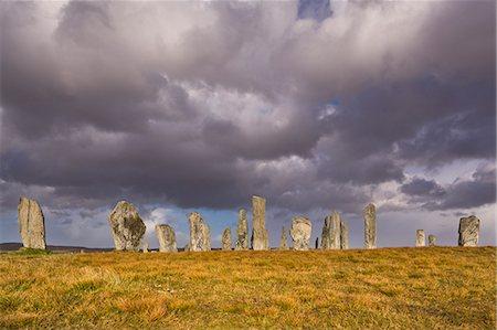 Showery weather at Callanish Stone Circle, Isle of Lewis, Outer Hebrides, Scotland, United Kingdom, Europe Stock Photo - Rights-Managed, Code: 841-06449607