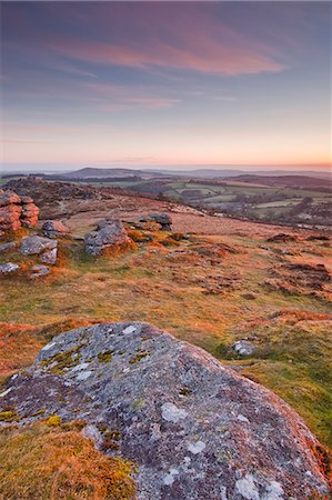 dartmoor national park - The view from Chinkwell Tor in Dartmoor National Park, Devon, England, United Kingdom, Europe Stock Photo - Rights-Managed, Code: 841-06449651