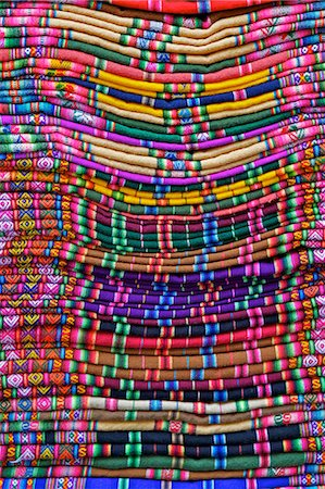 Textiles for sale in handicraft market, La Paz, Bolivia, South America Stock Photo - Rights-Managed, Code: 841-06449771