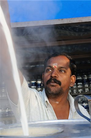 east indian (male) - Making chai, Indian style, Tanjore, Tamil Nadu, India, Asia Stock Photo - Rights-Managed, Code: 841-06499764