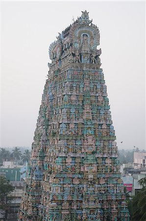 Tower of Kumbakonam temple, Kumbakonam, Tamil Nadu, India, Asia Stock Photo - Rights-Managed, Code: 841-06499835