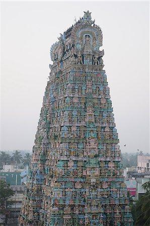 Tower of Kumbakonam temple, Kumbakonam, Tamil Nadu, India, Asia Stock Photo - Rights-Managed, Code: 841-06499835