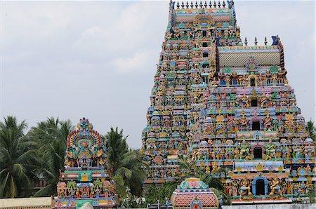 Manargudi temple gopuram, Manargudi, Tamil Nadu, India, Asia Stock Photo - Rights-Managed, Code: 841-06499839