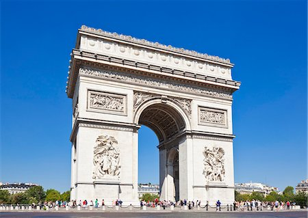 france - Arc de Triomphe, Paris, France, Europe Stock Photo - Rights-Managed, Code: 841-06500051