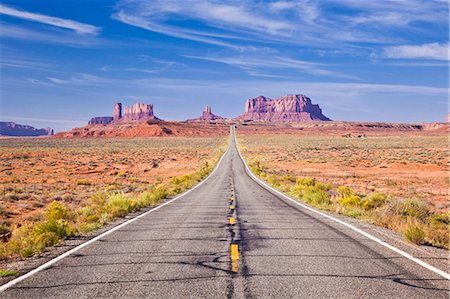 extreme terrain - Empty Road, Highway 163, Monument Valley, Utah, United States of America, North America Stock Photo - Rights-Managed, Code: 841-06500093