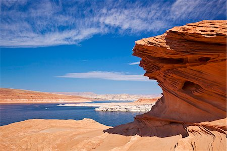 page - Red Rock formations, Lake Powell, Page, Arizona, United States of America, North America Stock Photo - Rights-Managed, Code: 841-06500105