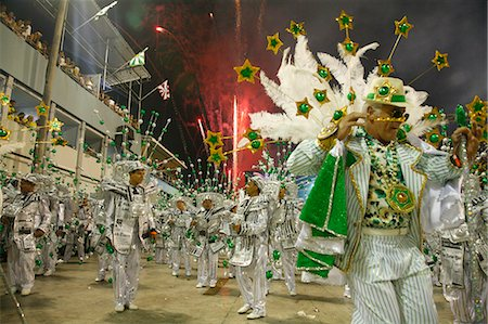Carnival parade at the Sambodrome, Rio de Janeiro, Brazil, South America Stock Photo - Rights-Managed, Code: 841-06500378