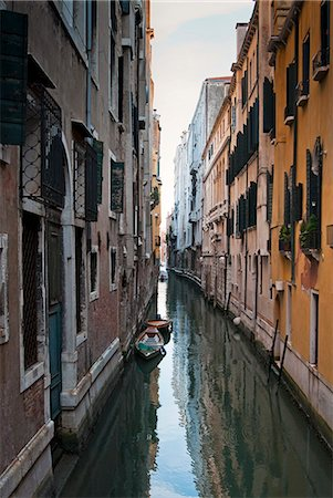 A canal in the Venetian Lagoon, Venice, UNESCO World Heritage Site, Veneto, Italy, Europe Stock Photo - Rights-Managed, Code: 841-06500774