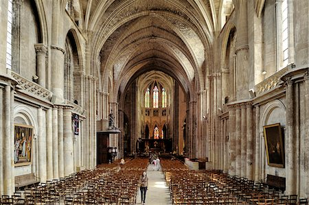 Interior of Cathedrale Saint Andre (St. Andrews Cathedral), Bordeaux, UNESCO World Heritage Site, Gironde, Aquitaine, France, Europe Stock Photo - Rights-Managed, Code: 841-06501064
