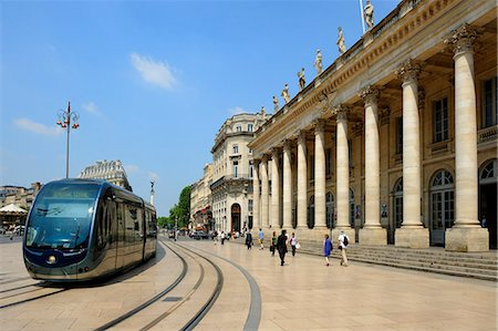 Le Grand Theatre, Place de la Comedie, Bordeaux, UNESCO World Heritage Site, Gironde, Aquitaine, France, Europe Stock Photo - Rights-Managed, Code: 841-06501068