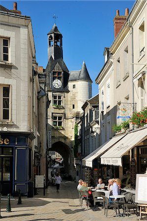 street cafe day - Old Town Gate, Amboise, UNESCO World Heritage Site, Indre-et-Loire, Centre, France, Europe Stock Photo - Rights-Managed, Code: 841-06501077