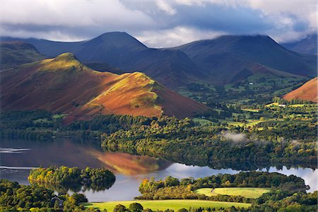 Derwent Water and Catbells mountain, Lake District National Park, Cumbria, England, United Kingdom, Europe Stock Photo - Rights-Managed, Code: 841-06501347