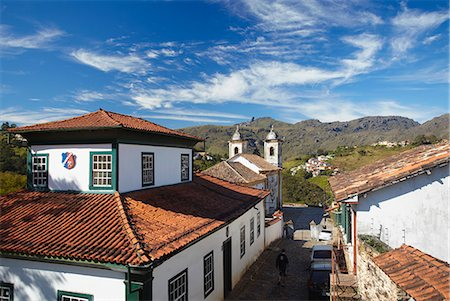 View of Our Lady of Merces de Baixo Church, Ouro Preto, UNESCO World Heritage Site, Minas Gerais, Brazil, South America Stock Photo - Rights-Managed, Code: 841-06501378