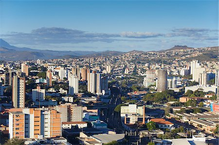 View of city skyline, Belo Horizonte, Minas Gerais, Brazil, South America Fotografie stock - Rights-Managed, Codice: 841-06501403