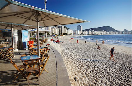 Beachside cafe, Copacabana, Rio de Janeiro, Brazil, South America Stock Photo - Rights-Managed, Code: 841-06501475