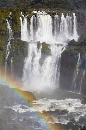 rainbow - Iguacu Falls, Iguacu National Park, UNESCO World Heritage Site, Parana, Brazil, South America Stock Photo - Rights-Managed, Code: 841-06501569