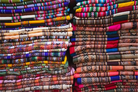 Colourful blankets in Witches' Market, La Paz, Bolivia, South America Stock Photo - Rights-Managed, Code: 841-06501829