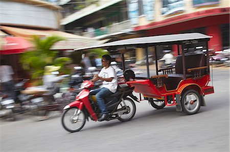 Tuk-tuk driver, Phnom Penh, Cambodia, Indochina, Southeast Asia, Asia Stock Photo - Rights-Managed, Code: 841-06501946