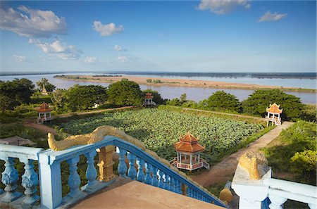 View of Mekong River from Wat Han Chey, Kampong Cham, Cambodia, Indochina, Southeast Asia, Asia Stock Photo - Rights-Managed, Code: 841-06501942