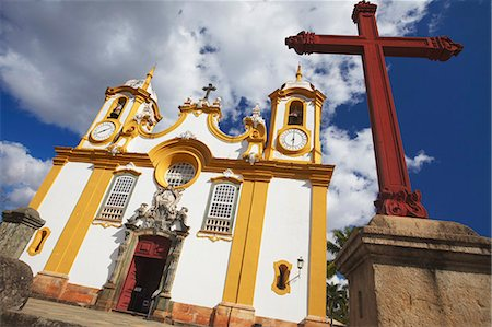 Matriz de Santo Antonio Church, Tiradentes, Minas Gerais, Brazil, South America Stock Photo - Rights-Managed, Code: 841-06501955