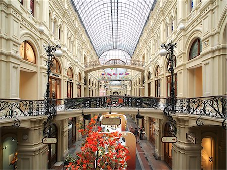 Interior of the GUM Shopping Centre on Red Square, Moscow, Russia, Europe Stock Photo - Rights-Managed, Code: 841-06501992