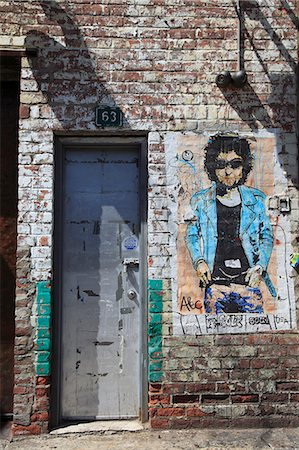 Bob Dylan, street art, Meatpacking District, Manhattan, New York City, United States of America, North America Stock Photo - Rights-Managed, Code: 841-06502025
