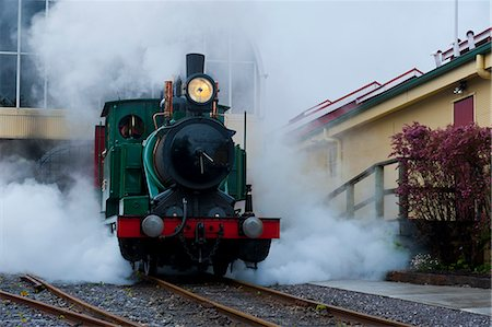 steam engine - Old steam train, Queenstown, Tasmania, Australia, Pacific Stock Photo - Rights-Managed, Code: 841-06502444