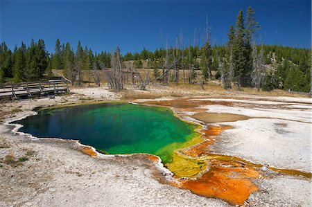 Abyss Pool, West Thumb Geyser Basin, Yellowstone National Park, UNESCO World Heritage Site, Wyoming, United States of America, North America Stock Photo - Rights-Managed, Code: 841-06502657