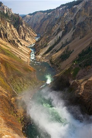 Brink of Lower Falls of Yellowstone River, Grand Canyon of the Yellowstone, Yellowstone National Park, UNESCO World Heritage Site, Wyoming, United States of America, North America Stock Photo - Rights-Managed, Code: 841-06502700