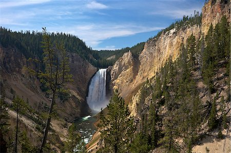 View of Lower Falls from Red Rock Point, Grand Canyon of the Yellowstone River, Yellowstone National Park, UNESCO World Heritage Site, Wyoming, United States of America, North America Stock Photo - Rights-Managed, Code: 841-06502702