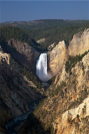 Lower Falls from Artists Point, Grand Canyon of the Yellowstone River, Yellowstone National Park, UNESCO World Heritage Site, Wyoming, United States of America, North America Stock Photo - Rights-Managed, Code: 841-06502712