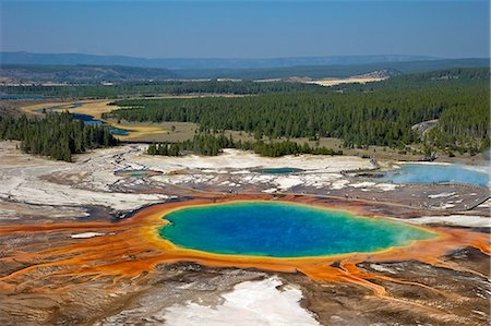 Grand Prismatic Spring, Midway Geyser Basin, Yellowstone National Park, UNESCO World Heritage Site, Wyoming, United States of America, North America Stock Photo - Rights-Managed, Code: 841-06502726
