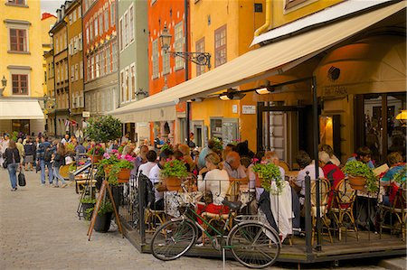 Stortorget Square cafes, Gamla Stan, Stockholm, Sweden, Scandinavia, Europe Stock Photo - Rights-Managed, Code: 841-06502818