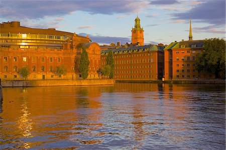 stockholm - Helgeandsholmen at sunset, Gamla Stan, Stockholm, Sweden, Scandinavia, Europe Stock Photo - Rights-Managed, Code: 841-06502819