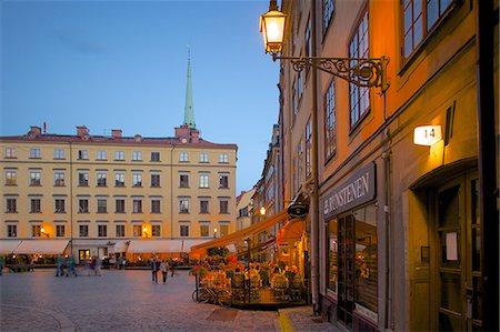 stockholm - Stortorget Square cafes at dusk, Gamla Stan, Stockholm, Sweden, Scandinavia, Europe Stock Photo - Rights-Managed, Code: 841-06502829