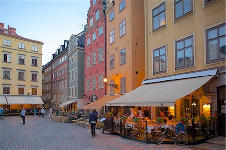 Stortorget Square cafes at dusk, Gamla Stan, Stockholm, Sweden, Scandinavia, Europe Stock Photo - Rights-Managed, Code: 841-06502823