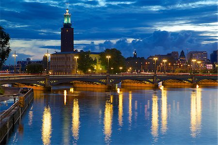 stockholm - The City Hall at night, Kungsholmen, Stockholm, Sweden, Scandinavia, Europe Stock Photo - Rights-Managed, Code: 841-06502839
