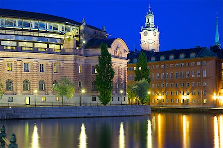 stockholm - Riksdagshuset at night, Stockholm, Sweden, Scandinavia, Europe Stock Photo - Rights-Managed, Code: 841-06502845
