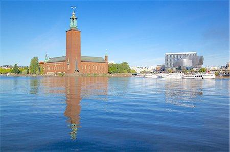 stockholm - The City Hall and Riddarfjarden, Kungsholmen, Stockholm, Sweden, Scandinavia, Europe Stock Photo - Rights-Managed, Code: 841-06502848