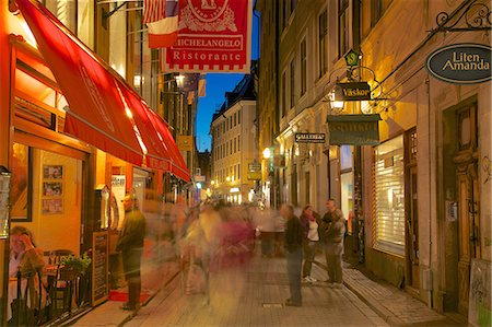 stockholm - Street scene at night, Gamla Stan, Stockholm, Sweden, Scandinavia, Europe Stock Photo - Rights-Managed, Code: 841-06502889